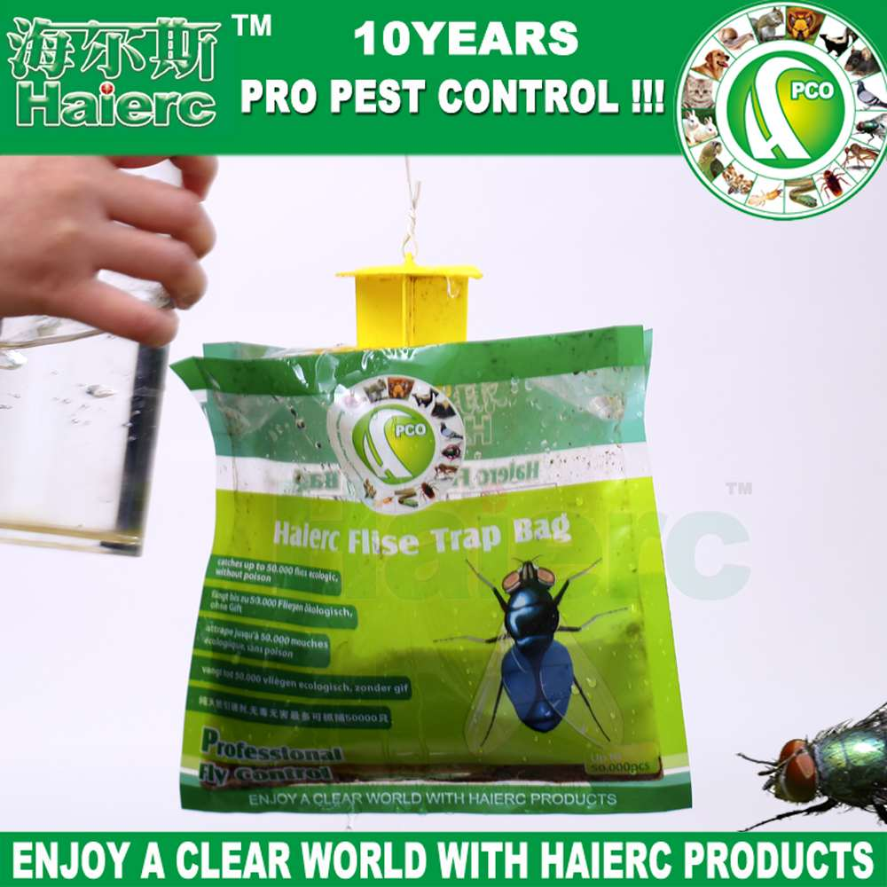 Haierc Fly Pest Control Trap Bag ,Flies Trapper, Fly Trap