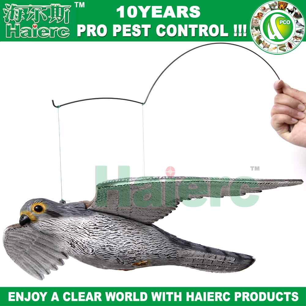 Hawk & Crow Decoy Hunting Bait Trap Bird Deter Scarer Pest Control New