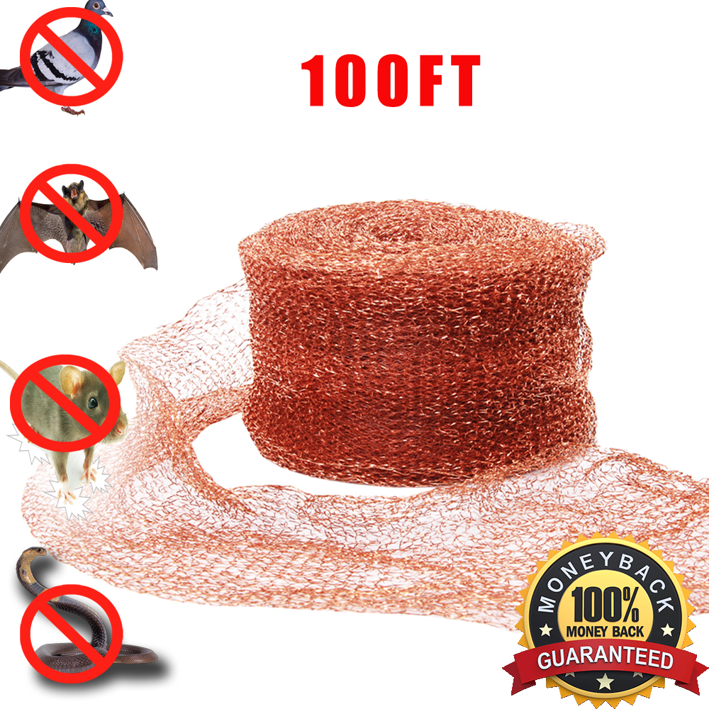 Amazon Hot Seller Haierc Copper Mesh For Mouse Rat Rodent Control, Snail Repel Control, Slugs Expeller, Snake Control,Bat Control,Insect Control,100FT,100% Copper