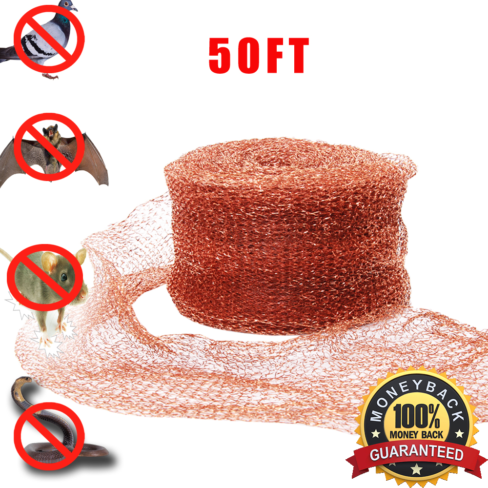 "Amazon Best Seller Haierc 5"" X50FT Copper Mesh Mouse Rat Rodent Control Snail Control Snake Control Bat Control Insect Control DIY Pure Coper Fill Fabric 100% Copper"