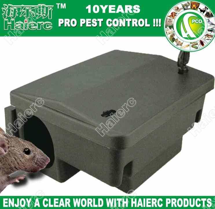 Haierc High Quality Plastic Mouse Bait Station