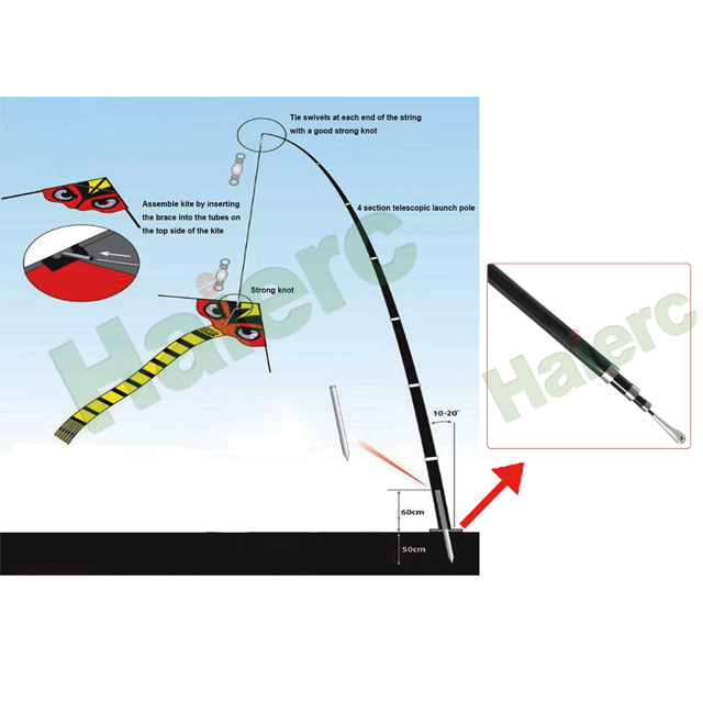 Haierc Bird Scarer Kite Support HC1635
