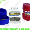 Travelling jar with 2-function(Storage,feeding&watering)1000g P636: